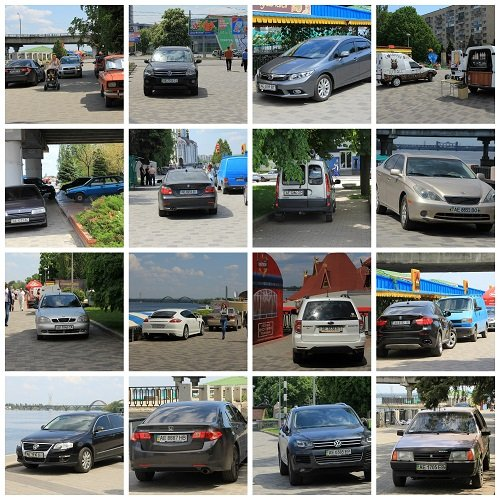 6 Машины коллаж