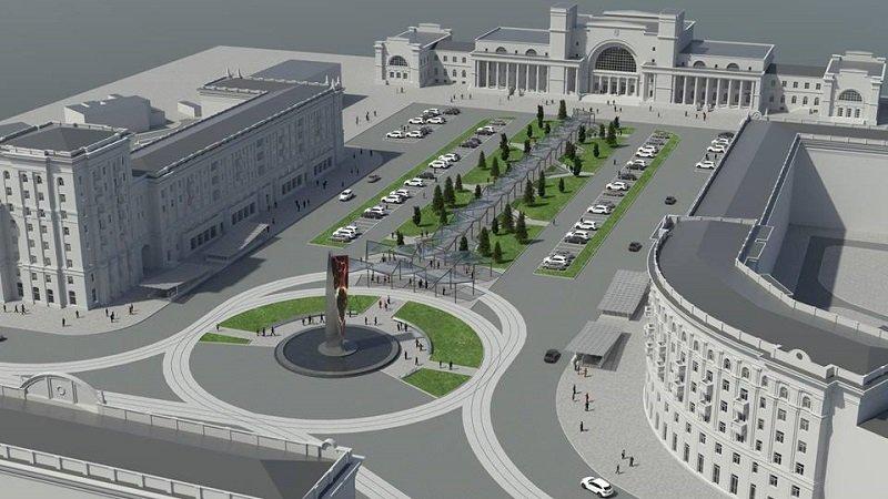 Проект Вокзальной площади в Днепропетровске