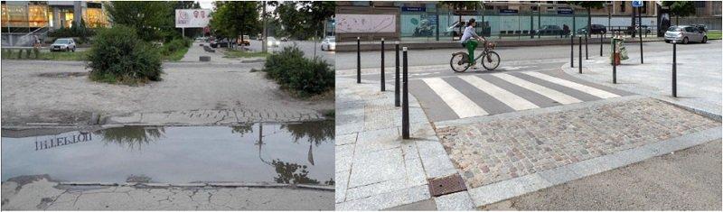 Городская среда против луж