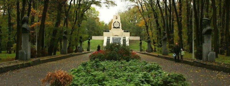 Севастопольский парк Днепр вырубают деревья