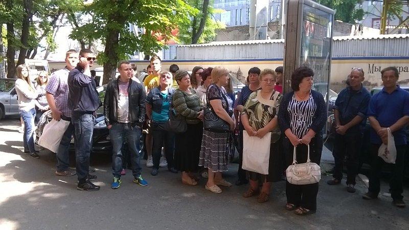 митинг против судейского беспредела в Днепре