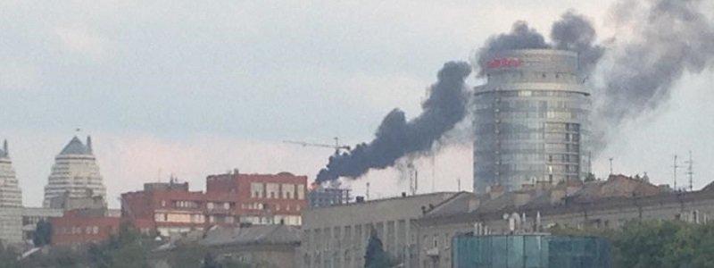 в центре днепропетровска пожар