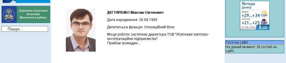 депутат Максим Дегтяренко