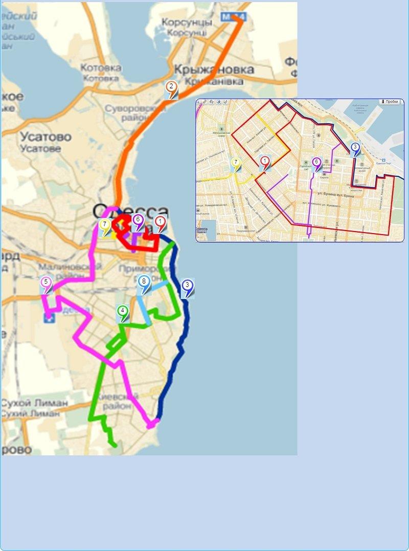 Через 2 года в 2015 году депутаты дополнили концепцию схемой организации  веломаршрутов в Одессе на которой выбрали 8 будущих маршрутов. b55f6cf1474ef