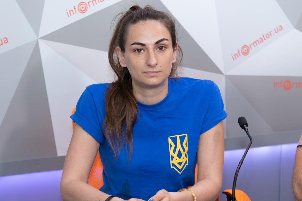Начальник штаба Днепропетровской областной организации политической партии «Национальный корпус» Дарья Слуцковская
