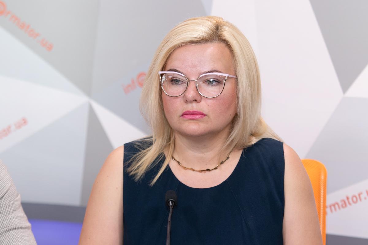 Глава фракции Оппозиционного блока в Днепровском горсовете Наталья Начарьян