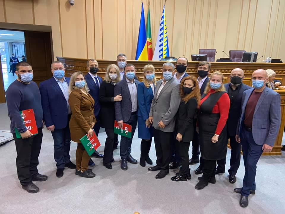 """Фракция партии """"Слуга народа"""" в Криворожском городском совете после первой сессии"""